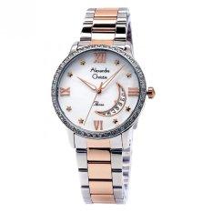 Spesifikasi Alexandre Christie Jam Tangan Wanita Putih Rosegold 2531 Yang Bagus Dan Murah