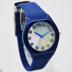 Alexandre Christie Original AC2702L Jam Tangan Wanita rubber (karet) biru