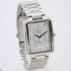 Alexandre Christie Original-AC8555M-Jam Tangan Pria-Stainless Silver White