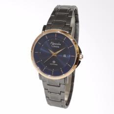 Alexandre Christie Sapphire Series 8545LDBGRBU Stainless Steel Bracelet Jam Tangan Wanita