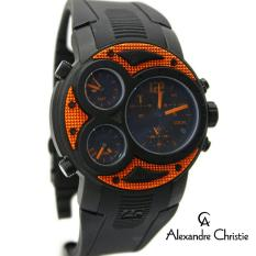 Alexandre Christie Triple Time - Jam Tangan Sport Pria -  Full Rubber - AC6324MTV