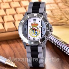 Alexandre Costie Jam Tangan Pria Body Grey - Grey/White Dial -GreyBlack Rubber Band - AC-RK-RealMadrid-006V-Grey-Grey/White-GreyBlack Rubber Band