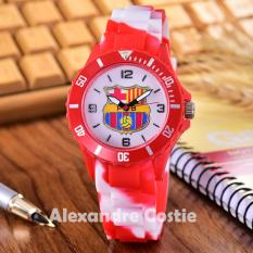 Alexandre Costie Jam Tangan Pria Body Red - White Dial Rubber Band - AC-RK-FCB-006B-RedWhite-Rubber