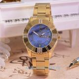 Model Saint Costie Jam Tangan Wanita Body Gold Blue Dial Sc 5757E Gb Stainless Steel Band Terbaru