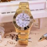 Beli Saint Costie Jam Tangan Wanita Body Gold White Dial Sc 5757E Gw Gold Stainless Steel Band Seken