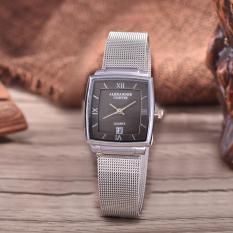 Alexandre Costie  Original Brand, Jam Tangan Wanita - Body Silver - Black Dial - Stainless Stell Mesh Band - AC-RT-2343A-L-TGL-SB-Stainless Steel Mesh Band-CL