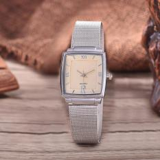 Alexandre Costie  Original Brand, Jam Tangan Wanita - Body Silver - White Dial - Stainless Stell Mesh Band - AC-RT-2343B-L-TGL-SW-Stainless Steel Mesh Band-CL