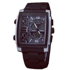 Alfa Four Time - Jam Tanga Pria - Black - ALFA Tristan Silver Black
