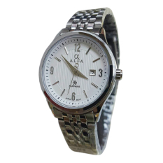 Alfa Jam Tangan Wanita Silver Strap Stainless 88905 Promo Beli 1 Gratis 1