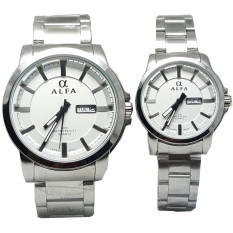 Alfa watch ALF099 Jam Tangan Couple Strap Stainless Steel