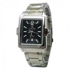 Alfa watch ALF770 Jam Tangan Pria - Strap Stainless Steel - Silver - Tanggal