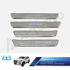 All New Fortuner Side Scuff Plate Stainless JSL W/ Lamp