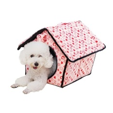 All The Year Round Universal Portable Rumah Anjing Hangat dan Nyaman Rumah Tempat Tidur For Anjing Kucing Anak Anjing Kelinci Indoor Outdoor Use For Hewan Peliharaan Di Bawah 1.5 Kg (Pink) -Intl