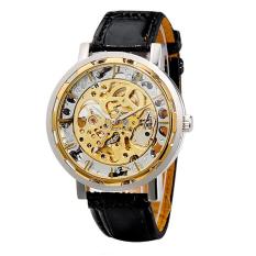 Jual Alloy Leather Strap Logam Memotong Automatic Mechanical Watch Kuning Emas Intl Di Bawah Harga