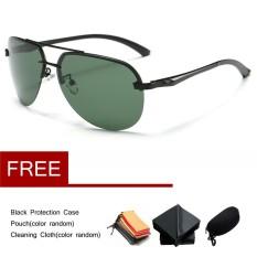 Aluminium Pria Terpolarisasi Mengemudi Kacamata Hitam Olahraga Kacamata Retro Kacamata-Internasional