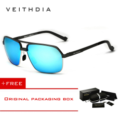 Ulasan Veithdia Aluminium Magnesium Polarized Sunglasses Square Vintage Pria Kacamata Matahari Mengemudi Eyewear Aksesoris Pria 6521 Biru Beli 1 Mendapatkan 1 Freebie Intl