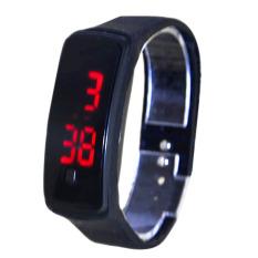 Amart 2 X LED Karet Silikon Layar Sentuh Jam Tangan Digital Jam Tangan Tahan Air (Hitam)-Intl