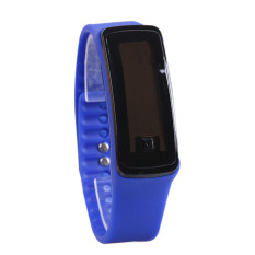 Amart 2 X Sport LED Karet Silikon Layar Sentuh Digital Jam Tangan Tahan Air (Biru)-Intl