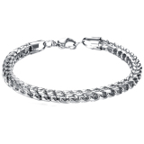 Review Pada Amart Men S Titanium Steel Snake Chain Bracelet Intl