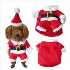 Beli Amart Pet Christmas Costume Dog Suit With Cap Santa Claus Coat Hoodies For Small Dogs Cats Funny Puppy Christmas Party Clothes Intl Kredit