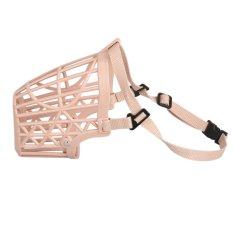 Amart Portabel Keranjang Plastik Jala Masker Mulut Moncong Anjing Yang Dapat Disesuaikan (Ukuran: 1