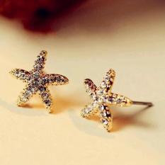 Amefurashi Anting Gold Star Shape Stud Earring