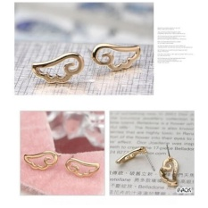 Amefurashi Anting Korea Angel Wing Golden Stud Earring Beauty