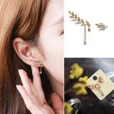 Amefurashi Anting Korea Daun Asimetris Asymmetric Leaf Clip Dangle Earring Beauty | Lazada Indonesia