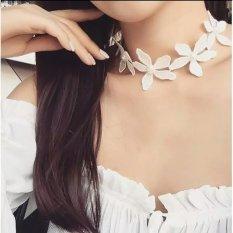 Amefurashi Kalung Cantik & Manis Choker A39 White Collar Necklace Lace Boho