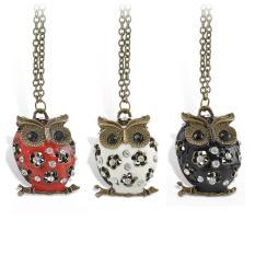 Amefurashi Kalung Korea Middle Owl Cute
