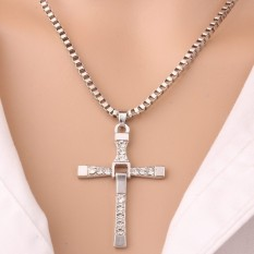 American Jewelry Toledo speed and passion 8 men Cross Necklace Pendant Pendant (gold) - intl