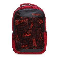 Harga American Tourister Tas Code Backpack Merah Fullset Murah