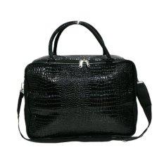 AMT Tas Koper Travel Bag Pria dan Wanita Kulit Buaya Sintetis - Hitam