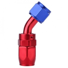 An8 Fuel Line Hose End Swivel Fitting Oil Cooler Adaptor Biru Dan Merah Warna Anodized 90 °-Intl By 1buycart