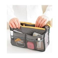 Anabelle Bag In Bag Dual Zipper Tas Kosmetik Dompet Travel Organizer