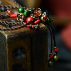 Pohon Kuno Ribu Rotan Asli Angin Nasional Kalung, Handmade Agate Agate Lotus, Thailand Gaya Perhiasan Rantai Sweter Panjang-Intl