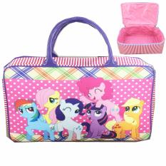 BGC Travel Bag Kanvas My Little Pony Pinkie Pie Polkadot - Purple Rainbow