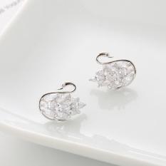 Angsa Kecil Korea Fashion Style 925 Sterling Silver Anti Alergi Kristal Anting