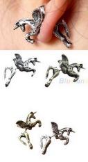 Anne - EE0113 - earrings giwang anting tusuk sambung unicorn model korea - Silver
