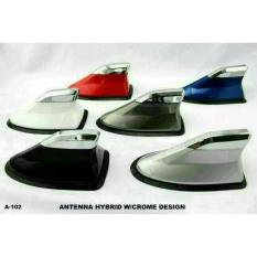 Antena Sirip Hiu Hybrid JS Racing List Chrome - Shark Fin Hybrid JS Racing WITH CHROME DESIGN