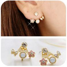 Anting berlian pita bunga / bow ribbon flower diamond earrings