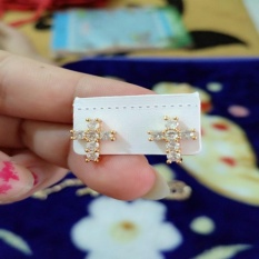 anting cantik salib gold xuping