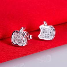 Anting Cewek Stud Earring Bentuk Unik Apel Anting Perak Sterling
