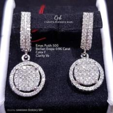 Anting Emas 18K Berlian Eropa Putih Asli Fashion Murah Meriah C291 - A7py7a