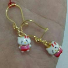 Anting Emas Anak Helo Kitty Kadar 70% Asli