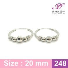 Anting Gipsy Lapis Emas Putih Perhiasan Imitasi 18K Yaxiya Jewelry 248