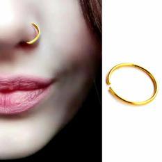 Anting Jepit Hidung Polos Emas - Aksesoris Fashion Punk Trendy tanpa tindik pria wanita Kado Murah