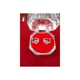 Anting Jepit Love Wanita Perak 925 Perhiasan Silver Lapis Emas Putih Banten Diskon 50