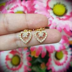 anting love bunga cantik xuping gold