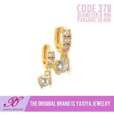 Anting Permata Lapis Emas Perhiasan Imitasi Gold18k Yaxiya Jewelry 378